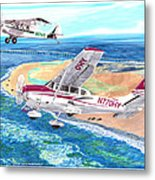 Cessna 206 And A1a Husky Metal Print