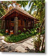Aaramu Spa Hideaway In Tropical Garden. Maldives Metal Print