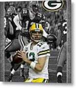 Aaron Rodgers Packers Metal Print