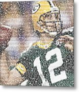 Aaron Rodgers Quotes Mosaic Metal Print