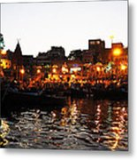 Aarti At Dashashwamedh Ghat 2 Metal Print