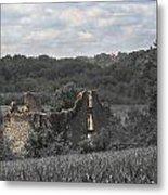 Abandon Stone House And Steeple  Metal Print