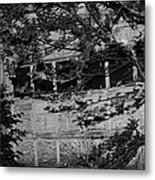 Abandoned And Forgotten Behind Trees Metal Print