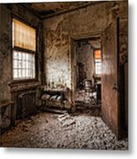 Abandoned Asylum - Haunting Images - What Once Was Metal Print
