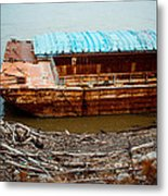 Abandoned Barge Metal Print