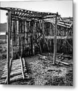 Abandoned Bird Observatory-bw Metal Print by Fabio Giannini