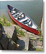 Abandoned Boat At The Quay Metal Print