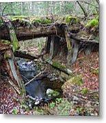 Abandoned Boston And Maine Railroad Timber Bridge - New Hampshire Usa Metal Print