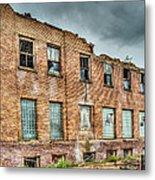 Abandoned Brick Building Metal Print