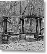 Abandoned Bridge Metal Print
