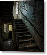 Abandoned Building - Haunting Images - Stairwell In Building 138 Metal Print by Gary Heller