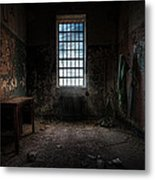 Abandoned Building - Old Room - Room With A Desk Metal Print
