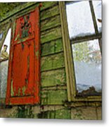 Abandoned Cabin Elkmont - Coming Down Clover Metal Print