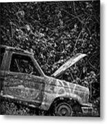 Abandoned Car Road To Hana Maui Metal Print