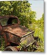 Abandoned Car Metal Print