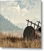 Abandoned Cart Metal Print