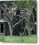 Abandoned Country Kansas Farm House Metal Print