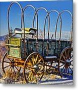 Abandoned Covered Wagon Metal Print