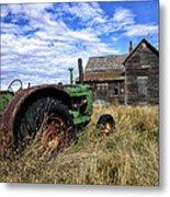 Abandoned Farm Saskatchewan Canada Metal Print