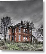 Abandoned Farmhouse Before The Storm Metal Print