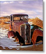 Abandoned For Almost 100 Years On Route 66 Metal Print