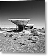 Abandoned Gas Metal Print