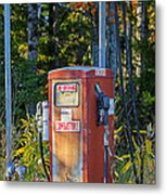 Abandoned Gas Pump Metal Print
