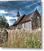 Abandoned Grave In The Churchyard Metal Print