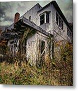 Abandoned Hotel Hdr Metal Print