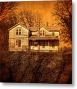 Abandoned House Sunset Metal Print by Jill Battaglia
