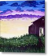Abandoned In The Evening Metal Print