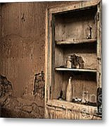Abandoned Kitchen Cabinet B Metal Print