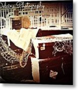 Abandoned Luggage For Good Metal Print