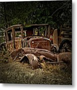 Abandoned Model A Shell Metal Print