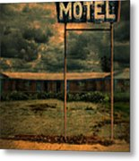 Abandoned Motel Metal Print