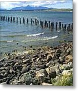 Abandoned Old Pier In Puerto Natales Chile Metal Print