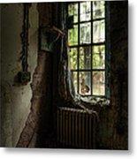 Abandoned - Old Room - Draped Metal Print