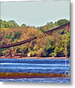 Abandoned On The Delaware River Metal Print