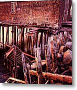 Abandoned Pier At Sunset Metal Print
