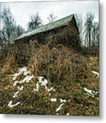 Abandoned Places - Old House - House On The Hill Metal Print