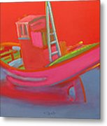 Abandoned Red Fishing Trawler Metal Print