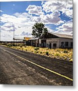 Abandoned Rest Stop Metal Print