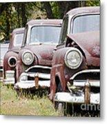 Abandoned Rusted Cars Metal Print
