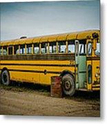 Abandoned School Bus Metal Print
