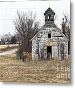 Abandoned Schoolhouse Metal Print