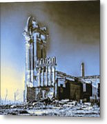 Abandoned Slaughterhouse In Winter Metal Print