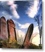 Abandoned Tombstones On The Prairie Metal Print