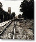 Abandoned Train Station Metal Print