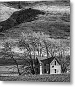 Abandoned Two-story Farmhouse - P Road Nw - Waterville - Washington - May 2013 Metal Print