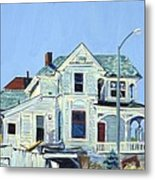 Abandoned Victorian In Oakland  Metal Print